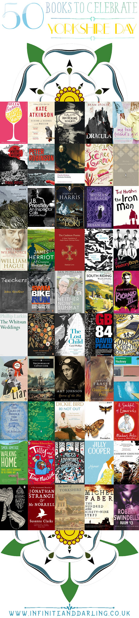 Fifty Books to help you celebrate Yorkshire Day, celebrate yorkshire day with this list of books
