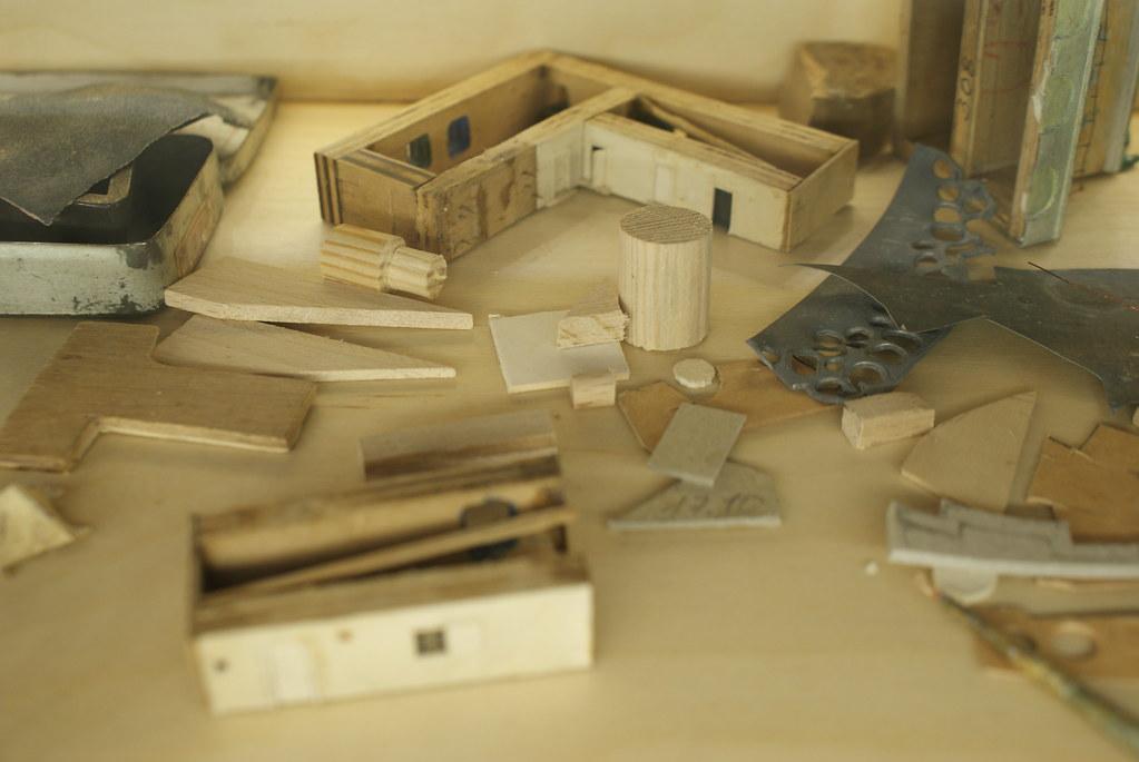Elements de construction visibles dans le musée consacré au Panorama de Lwow.