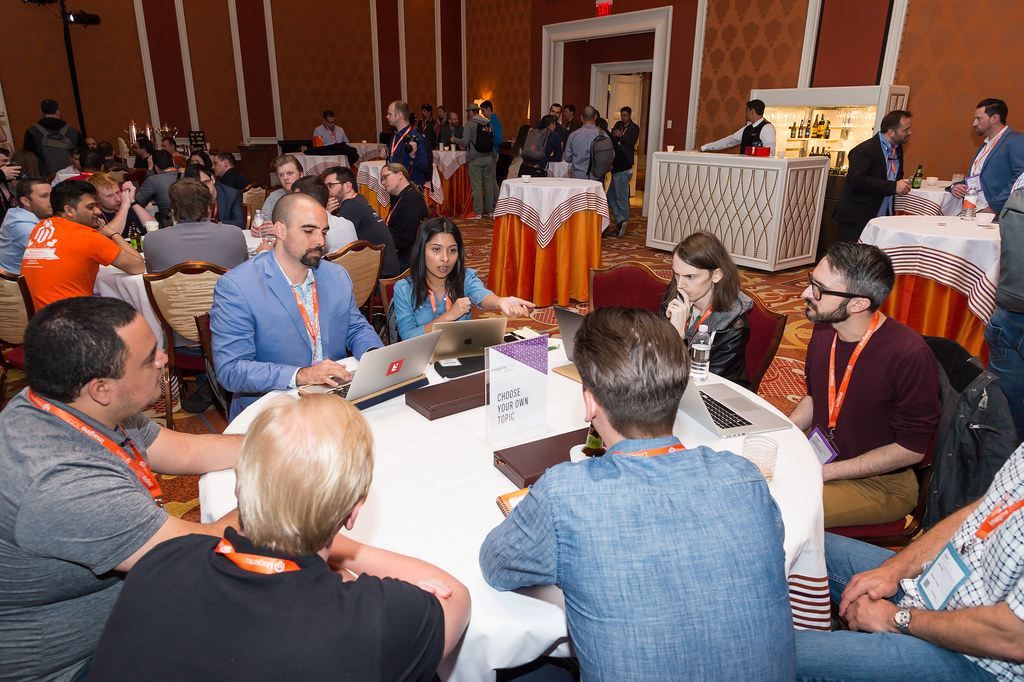 coolblueweb: CBW devs Michael and Parker involved in an intense discussion at the 2017 - DevExchange #flickr #MagentoImagine https://t.co/NZnBpaA5wi