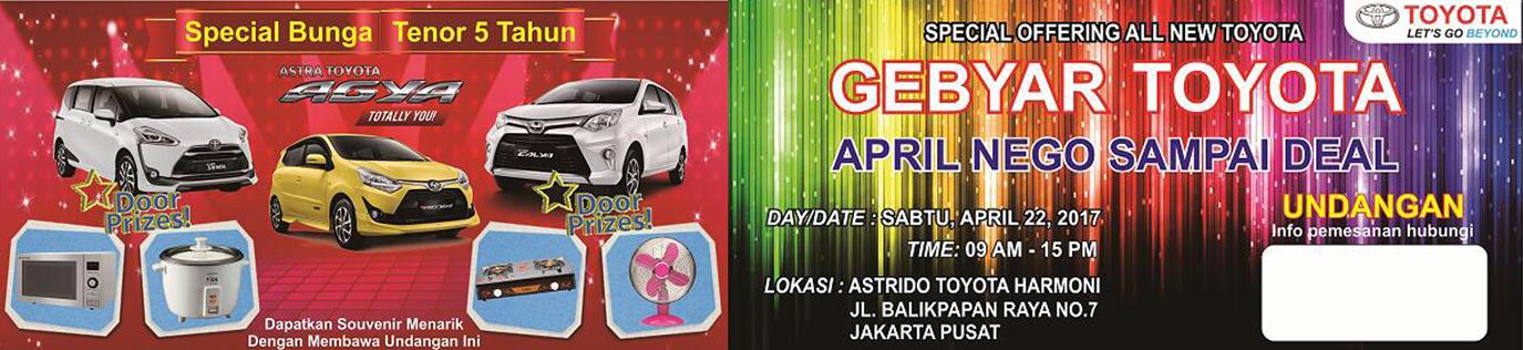 Showroom Event Mobil Toyota di Jakarta