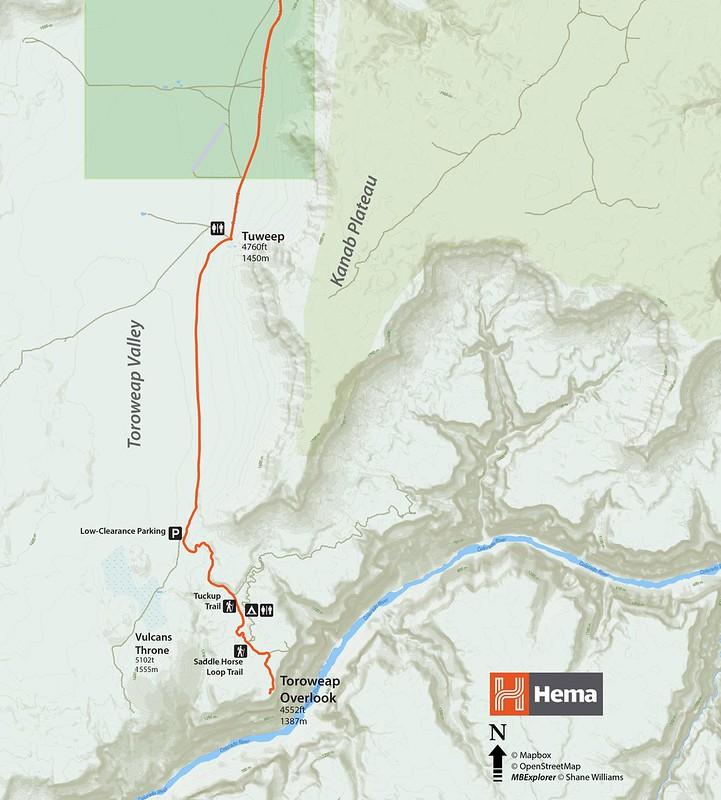 Toroweap Overland Toyota Adventure Hema Maps