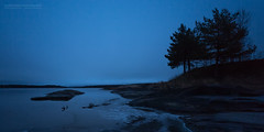 Glomma Blue Hour Silhouettes
