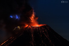 Volcanic Lightning - Colima Volcano, México