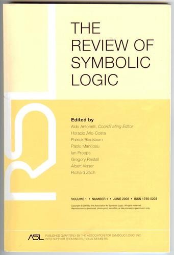 The Review of Symbolic Logic, June 2008 | by anarchic_universe