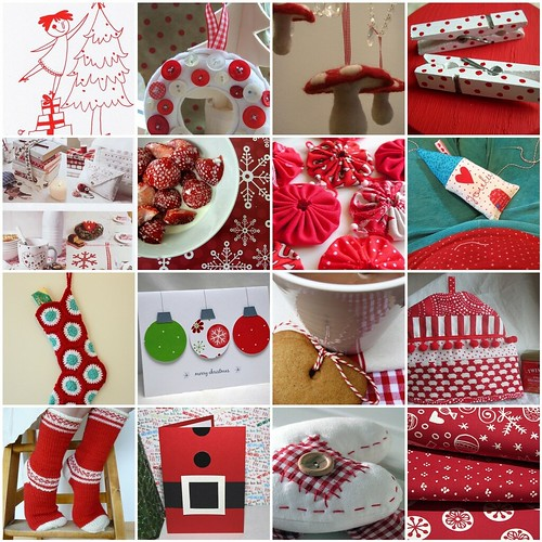 Red&White inspiration for Christmas crafting... :) | by memmu