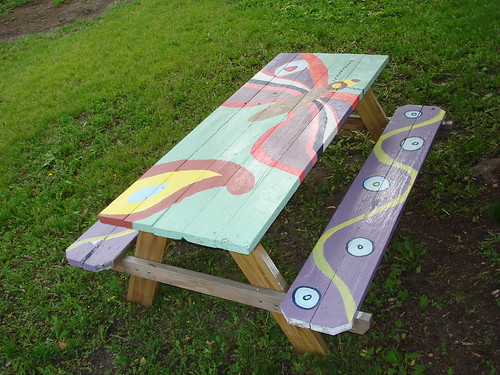 Picnic Tables Painted With Students 39 Art These Tables