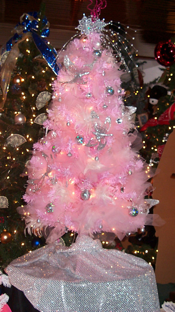 Pink Feather Christmas Tree | All of these trees are from th… | Flickr