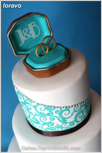 Turquoise And Chocolate Brown Wedding Cake Cakesyartstu Flickr
