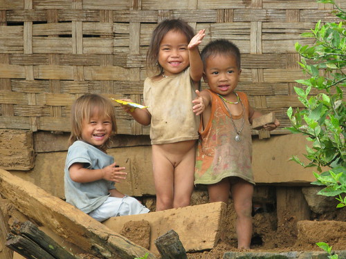 Laos - Hill tribe children