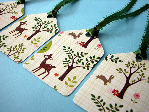 Forest Friends gift tags | by glamourfae