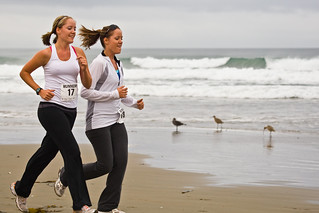 2 of 2 Two delightful girls smiling - Runners at 1st Annual Rock 2 Rock 5 Mile Fun Run | by mikebaird