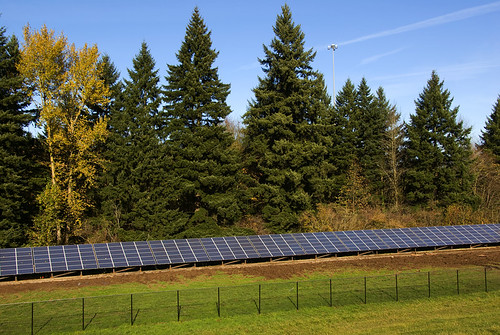 Completed solar array | by OregonDOT