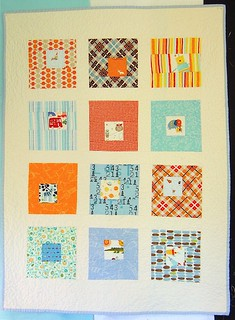 Another Square in Squares Baby Boy quilt! | by alissahcarlton