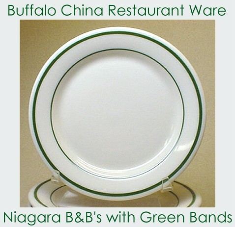 BUFFALO China NIAGARA green striped bread & butter plates   Flickr