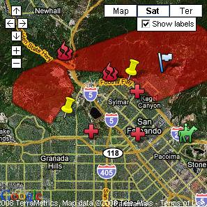 Sylmar Orange County Fire Map See The Full Interactive G Flickr