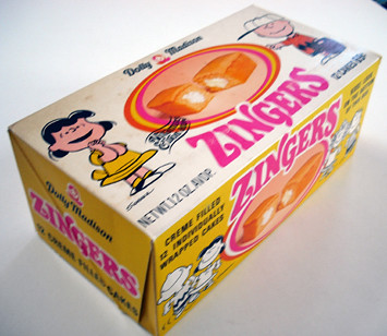 Dolly Madison Zingers Box A 1970 Peanuts | by gregg_koenig