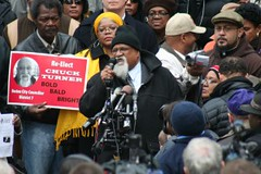Boston City Councilman Chuck Turner speaking at a press conference on November 24, 2008 in response to federal indictments and media attacks. Hundreds attended the gathering in a testament to his progressive and community-based leadership. | by Pan-African News Wire File Photos