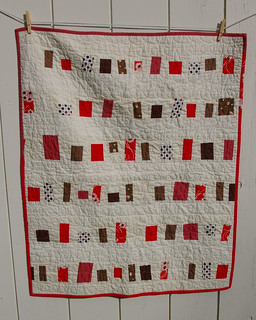 GIrl Blanket Reds and Browns Front jpg | by By Small Means