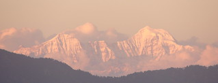Himalayas at dusk from Mussoorie | by Nagesh Kamath