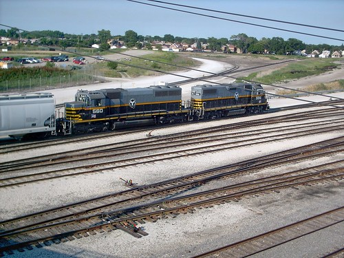 Two Belt Railway of Chicago EMD roadswitchers at work near the BRC West 68th Street Wye. Clearing Yard. Chicago Illinois. July 2007. | by Eddie from Chicago