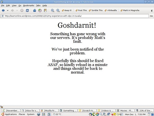 Goshdarnit! - WordPress.com is down | by Sean FitzGerald