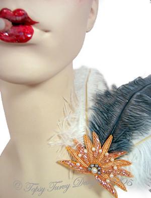 3e1f5ca2a3f ... Starburst Burlesque Fascinator Pin