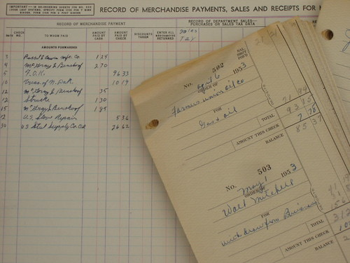 1950's Ledger book and stubs | by Home Deconomics