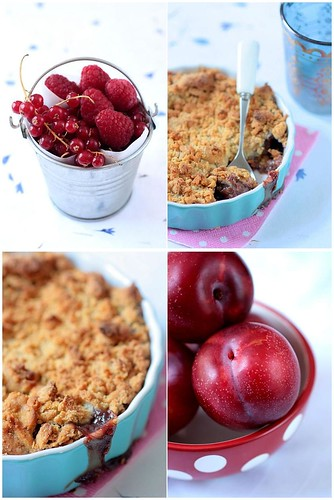 Plum Raspberry Cardamom Crumble | by tartelette