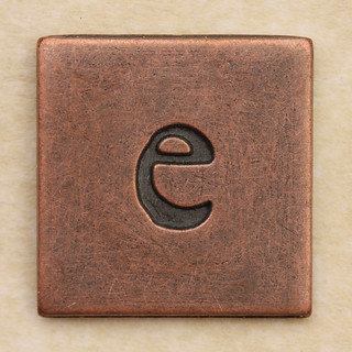 Copper Square Letter e | by Leo Reynolds