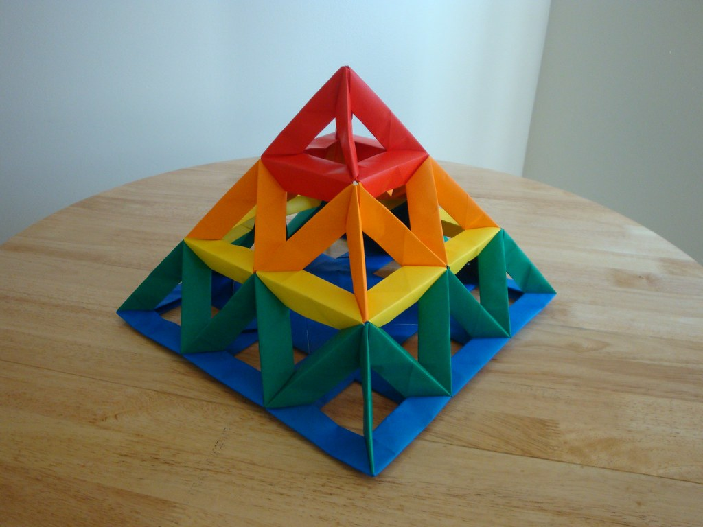 Open Frame Unit 3x3 Pyramid 2 Modular Origami