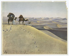 [Men and camels in the desert.] | by New York Public Library