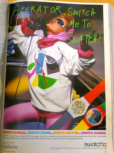 Operator, Switch Me To Swatch August 1985 | by laurasmoncur
