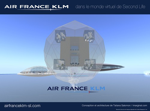 Air France-KLM in Second Life : An island in the sky | by Natacha Quester-Séméon (natachaqs)