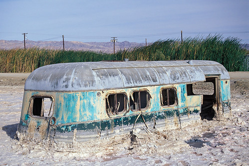one with nature. bombay beach, ca. 2000. | by eyetwist