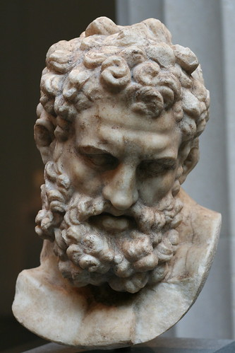 marble head of herakles roman imperial period 1st