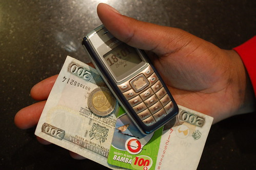 Mobile Phone with Money in Kenya | by whiteafrican