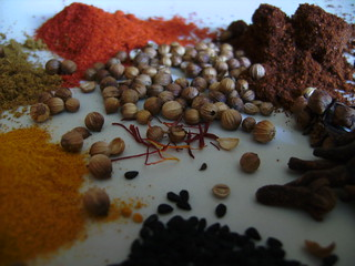 Assorted Spices on a plate | by John and Gill