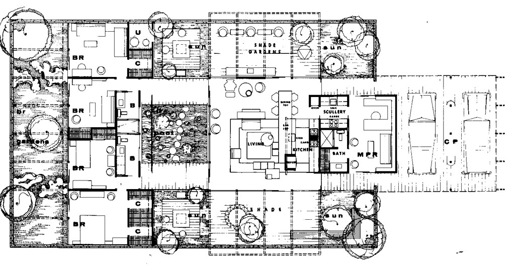 Case Study House #24 plan | from Esther Mc Coy\'s Case Study … | Flickr