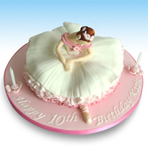 Ballerina Birthday Cake This graceful ballerina has delici Flickr