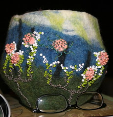 Primordial Blooms Felted Vessel | by Cream City Studio