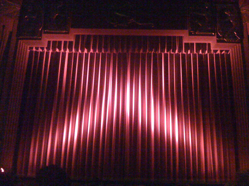Closed theater curtains -  Closed Red Curtain At The Coolidge Corner Theatre Landscape By Brokentrinkets