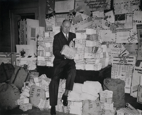 Postmaster General James A. Farley During National Air Mail Week, 1938 | by Smithsonian Institution