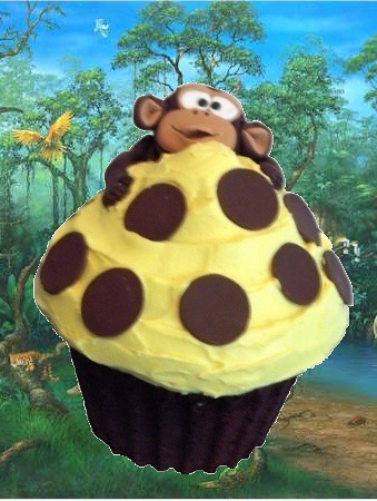 Giant Monkey Cupcake in the Jungle | by clevercupcakes