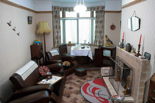 1950s Living Room Www Yorkcastlemuseum Org Uk Photograph