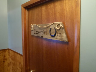 Sign on the door to the ladies room in Lusk, WY - P9080019 | by desl