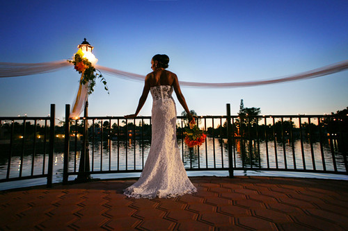 Tempe Waterfront Bridal Portrait - JoshuaSky- Phoenix, Arizona Wedding Photographers | by www.JoshuaSky.com