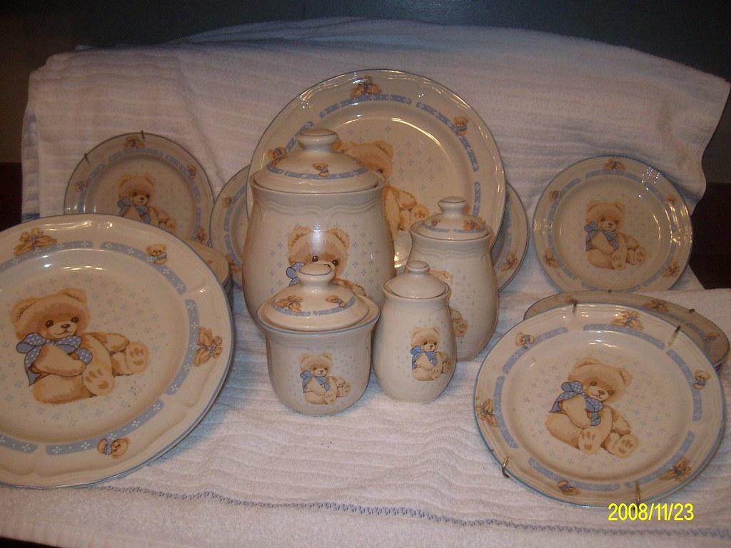 ... Rare Tienshan Teddybear Dinnerware Set | by Our Estate Sale & Rare Tienshan Teddybear Dinnerware Set | This set is no long\u2026 | Flickr