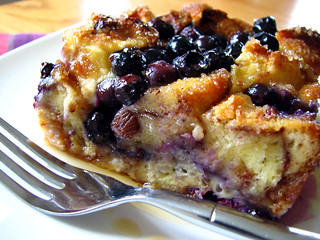 Blueberry Cinnamon Roll Bread Pudding | by Bougi