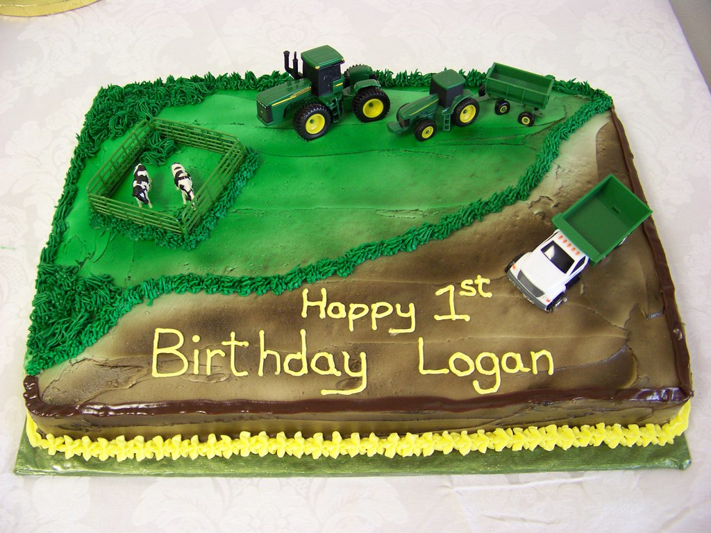 John Deere Birthday Cake II A 12 sheet chocolate cake air Flickr
