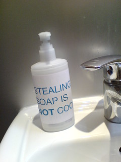 Stealing soap is NOT cool | by passiveaggressivenotes